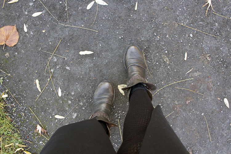 Shoe Human Leg Low Section Body Part Personal Perspective One Person Standing Real People High Angle View Human Body Part Day Lifestyles Outdoors Human Foot Walking Clean Path Nature Park Walker