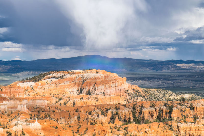Beauty In Nature Bryce Canyon Bryce Canyon National Park Cloud Geology Idyllic Landscape Mountain Mountain Range Nature Non-urban Scene Orange Color Outdoors Physical Geography Rainbow Remote Rock - Object Rock Formation Scenics Sky Tourism Tranquil Scene Utah