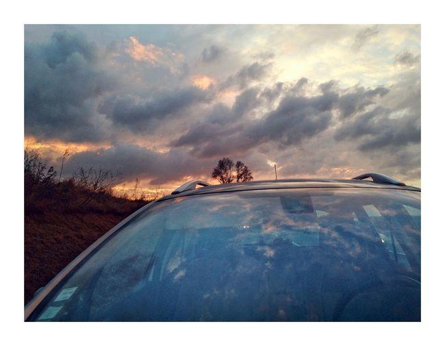 Brise- ciel Auto Post Production Filter Transfer Print Cloud - Sky Sky No People Nature Transportation Car
