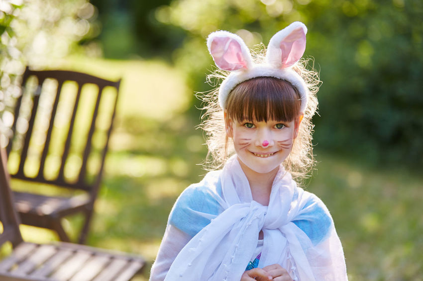 portrait of girl Bangs Bunny  Carnival Cheerfulness Child Childhood Circus Content Costume Creativity Day Dress Up Face Paint Face Painting Fantasy Females Focus On Foreground Front View Fun Funny Girl Girls Hairstyle Happy Hare Ears Headband Headshot Innocence Joyful Leisure Activity Lifestyles Looking At Camera Make Up Nature One Person Outdoors People Play Portrait Rabbit Real People Seat Smile Summer Theater Women