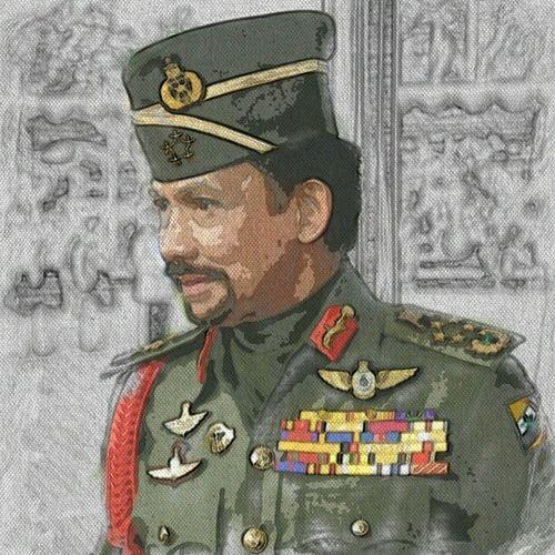 Raja dan rakyat bersatu hati, Senada seirama sehati sejiwa... Brunei InstaBruDroid Andrography Paperartist