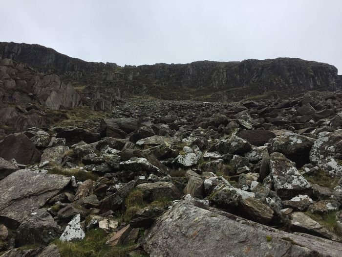 Rock Formation Mountain Wales Rockfall Sky Plant Nature No People Beauty In Nature Growth Environment Scenics - Nature Landscape Mountain Rock Outdoors Land