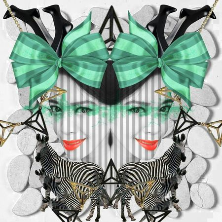 Digital Art Digital Imaging Abstract Potrait Mozaic