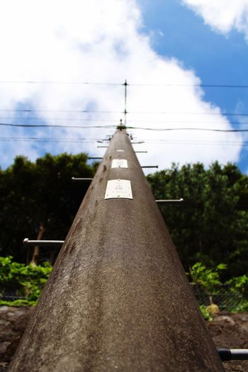 Eoskissx7i Utility Pole Blue Sky 八丈島 Hachijo-island Cloud Tokyo Clouds Blue OpenEdit