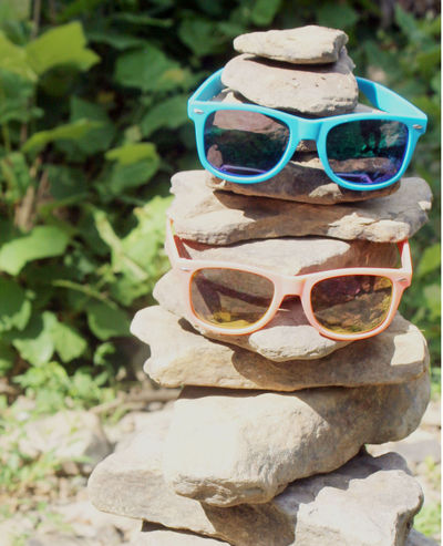 Fun Sunny Him And Hers Nature Outdoors Rock - Object Rock Tower Sunglasses