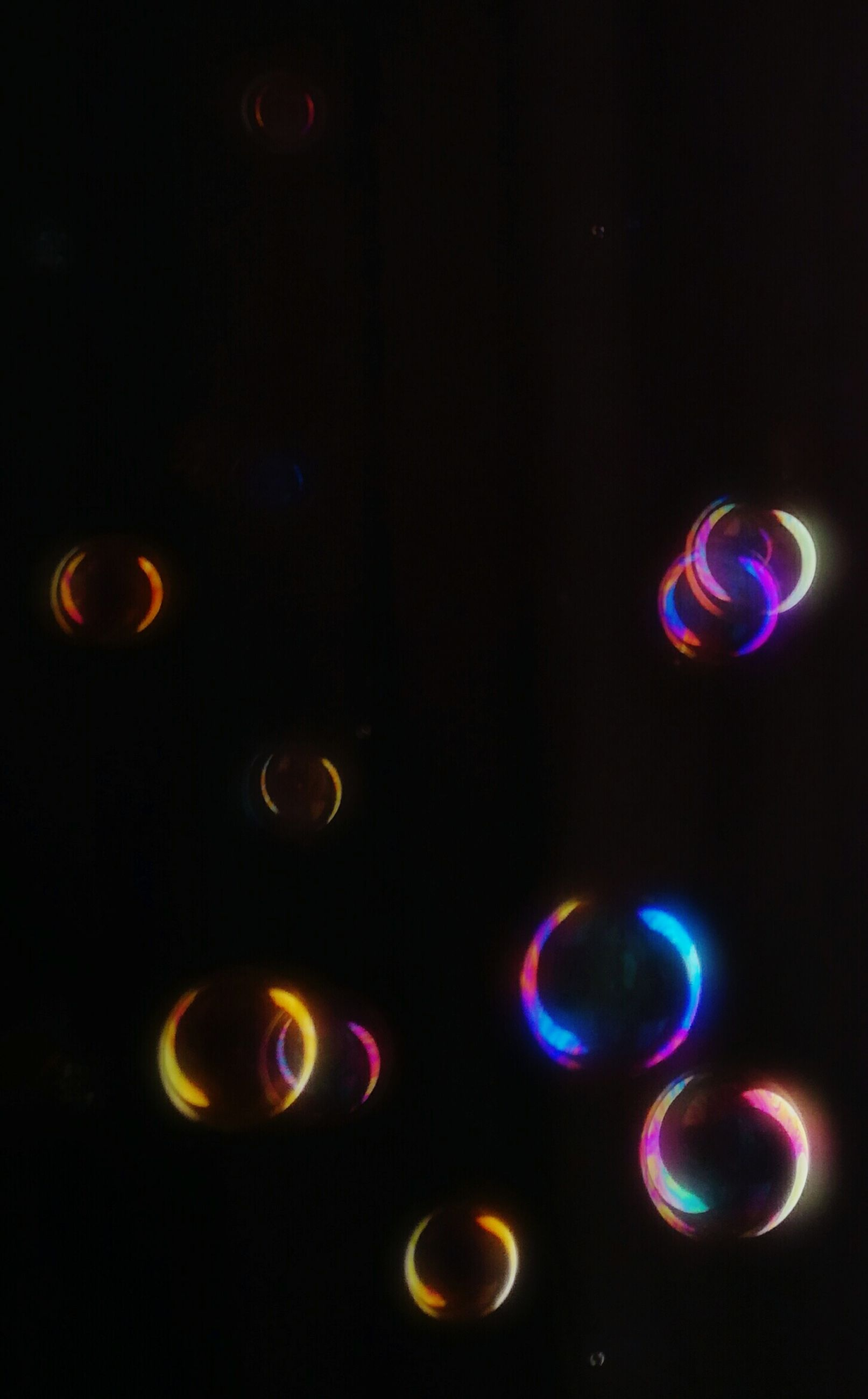 black background, no people, multi colored, abstract, close-up, astronomy