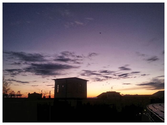 Camera Zoom FX in one mode. Sunset Silhouette Building Exterior Sky No People Architecture Nature Outdoors Day Smartphone Photography Note 2