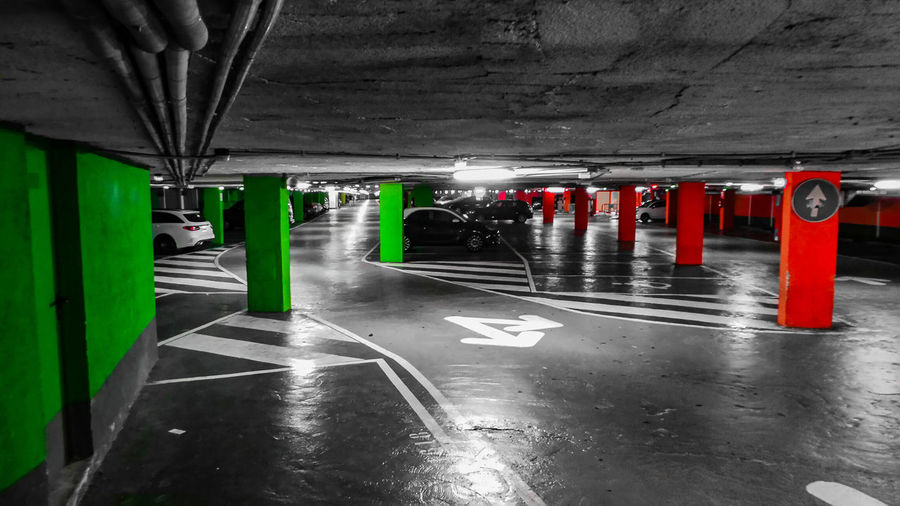 Underground Park Lot Underground Parking Underground Parking Lot Underground Undergroundphotography Underground Parking Undergroundcity Green Green Color Red Red Color Mallorca Majorca Majorca, Spain Mallorcaphotographer Mallorca (Spain) Mallorcaisland SPAIN Car Cars Parking Parking Lot No People No Person Parking Garage Parking Garage Architecture Built Structure Parking Parking Lot