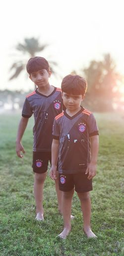 Child Childhood Two People Offspring Boys Togetherness Full Length
