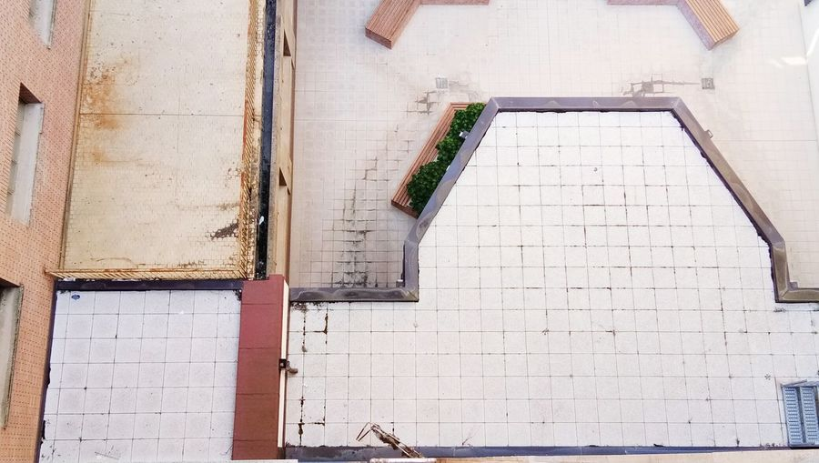 High angle view of old building