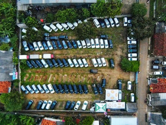 car's parking lot EyeEm Best Shots EyeEmNewHere EyeEm Selects Village Drone  Dronephotography No People Midrone The Graphic City Aerial View Car Mobility In Mega Cities