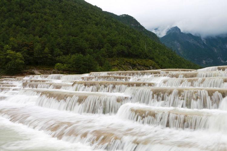 Baishui river scenic spot of yulong snow mountain, lijiang, yunnan, china