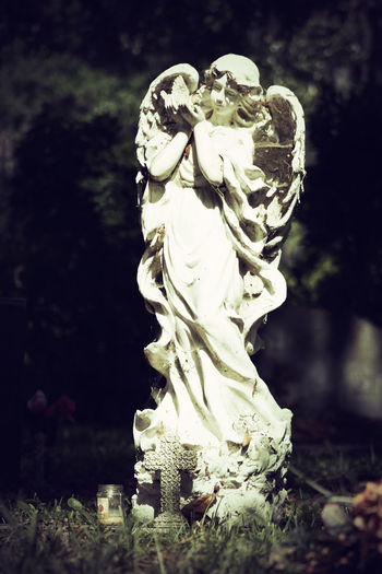 Cemetary Beauty Cemetery Cemetery Photography Memorial Memoriam Monuments Religion And Tradition Weathered Angel Art Cemetery Cemeteryscape Female Likeness Headstones Human Representation Memorial No People Outdoors Peaceful Religion Religious  Religious Architecture Sculpture Statue