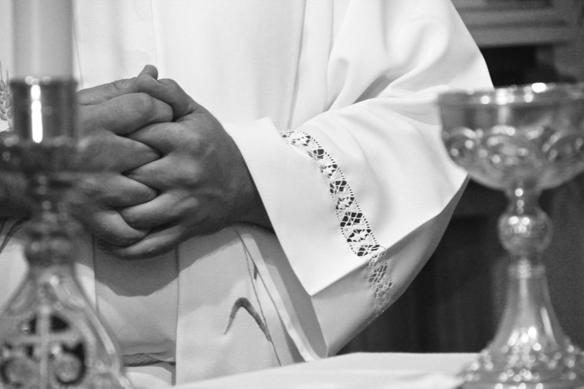 Adult Black And White Photography Bride Catholic Catholicism Catolic Church Celebration Church Close-up Holding Human Body Part Human Hand Indoors  Lifestyles Madeira Island Men Midsection Padre People Real People Table Wedding Wineglass Women