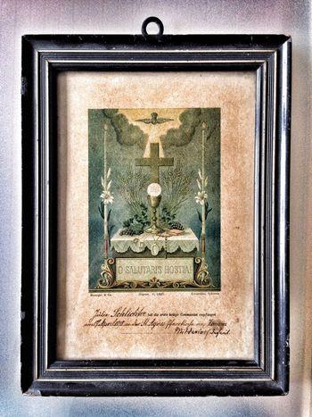 Vintage Old Christ Kommunion Kommunionsurkunde 1899