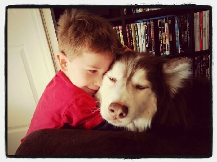 best friends... Kids Pets Dogs Husky Seb Siberian Husky Anikin