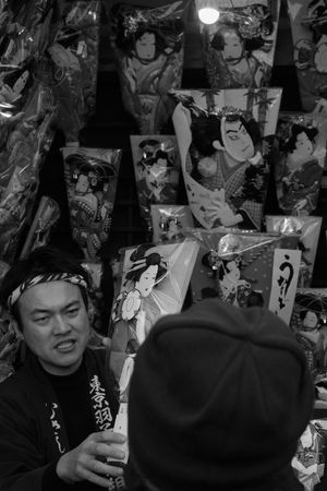 Battledore fair/羽子板市 Dedicated to Mr. Seth Kunin Monochrome Battledore Fair Traditional Hanging Out Enjoying Life Japan Style I Heart Tokyo My Winter Favorites LUMIX DMC-GX7