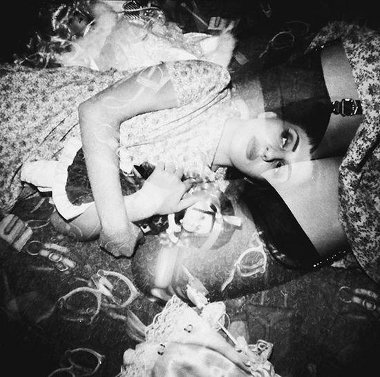 Laurenluck Organsinsleep Ffoiegras Film Lomography Double Exposure Blackandwhite Woman Dolls Odd Creepy Boudoir Sensual_woman