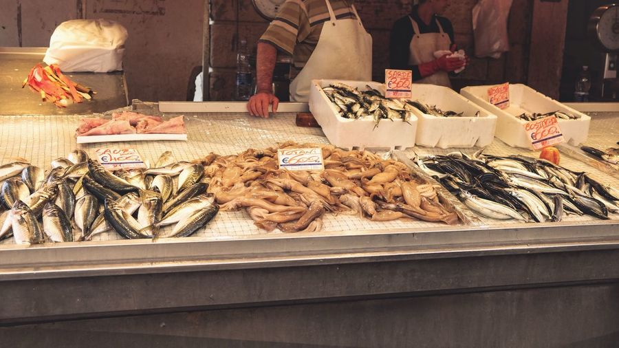 Non-digital marketplace/4. Market Market Stall Freshness Food Seafood Food And Drink For Sale Choice Fish Italy Sicily Siracusa People Traditional This Week On Eyeem EyeEm Gallery