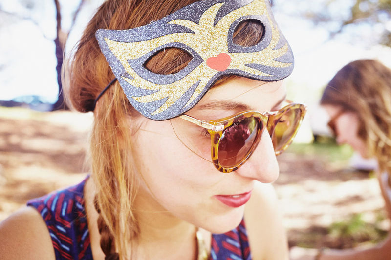 Childhood Close-up Day Focus On Foreground Front View Happiness Headshot Leisure Activity Lifestyles Nature One Person Outdoors People Portrait Real People Smiling Sunglasses Young Adult Young Women