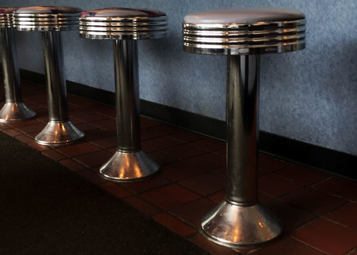 Stainless steel stools. Stools Lunch Counter Stainless Steel  Stainless Steel Stools Seat Horizontal Many Of A Kind Place To Sit Diner Nostalgia