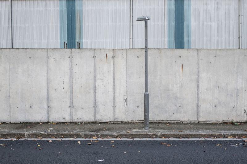 Street light against wall