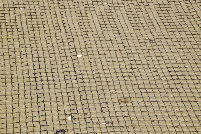 Beach Net Net Net On Sand Squares Lines