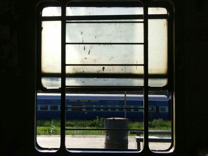 Window Train Windows Window View Day Shots Abandoned Train Blue Green And Light Abandoned Railway Track