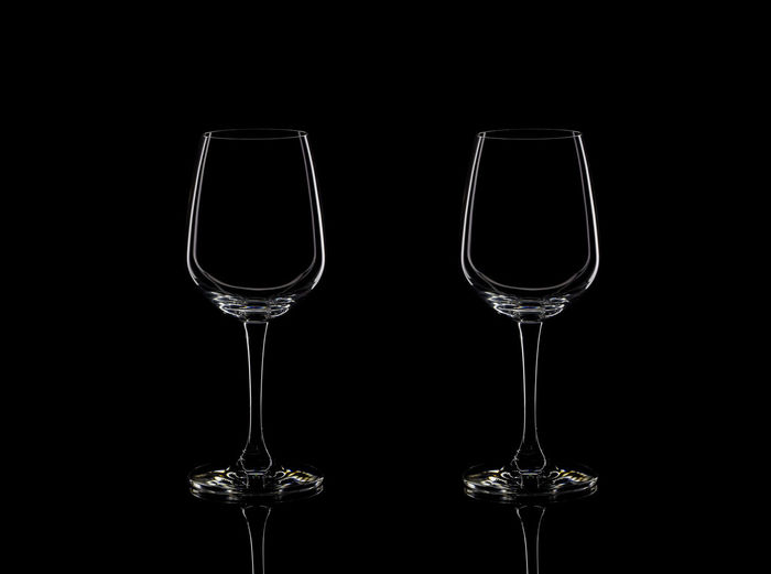 glass with wine isolated on black background. Isolated Background Black Background Close-up Cup Drink Drinking Glass Food And Drink Glass Studio Shot Water Wineglass