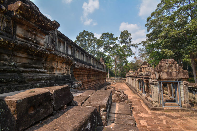 Angkor Angkor Ruins Ancient Civilization Tree Old Ruin Ancient History Sky Architecture Ancient History Historic Stone Material Cambodia Civilization