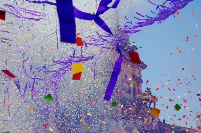 Multi Colored Pattern Blue Confetti Celebration No People Close-up Backgrounds Water Illuminated Indoors  Animal Themes Day UnderSea Summer Sky  Italian Sky Smoke In The Sky Color Explosion Explosion Of Color Lifestyle Fireworks Colourfull Explosions In The Sky Coloursplash Colorful Millennial Pink