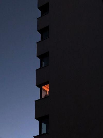 Never Stop DREAMING ✨ Perspektive Huntgram EyeEm EyeEm Best Edits Ig_berlincity Igers Berlin Architecture Building Exterior Built Structure Low Angle View Building Sky Night Window Blue Outdoors No People