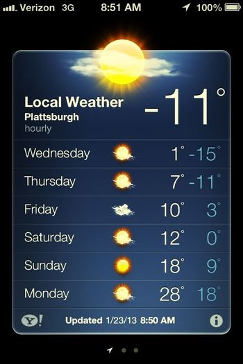 Really -11?!? Come on summer!