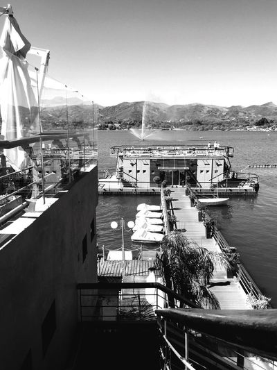 Summer Water Boat 🎈👻 Mountain Day High Angle View Outdoors Harbor Tranquility Architecture Sky Scenics Potrero De Los Funes