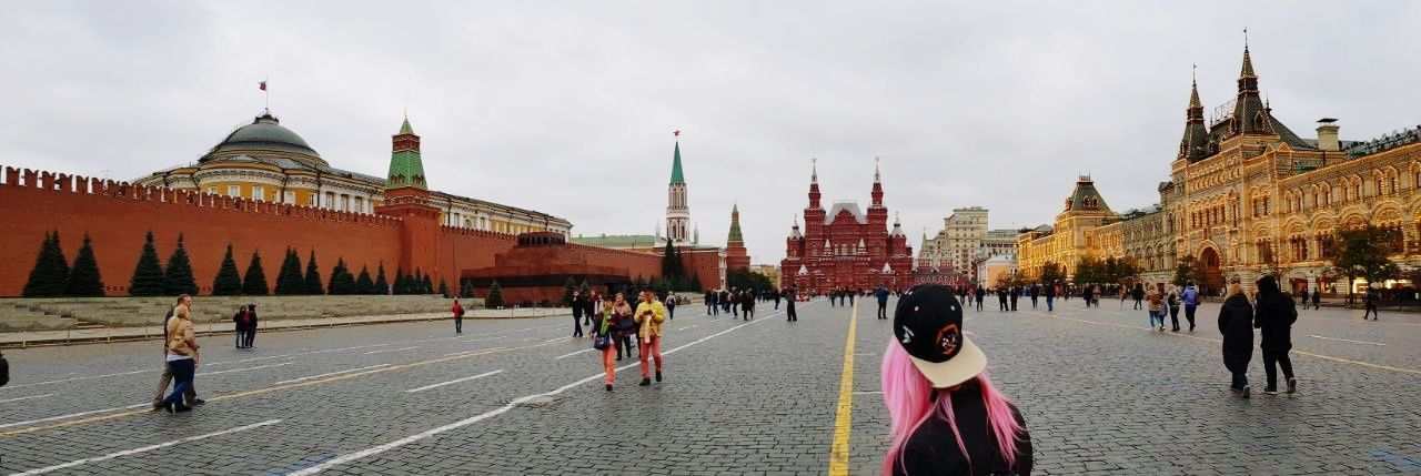 City Tourism Moscow Redsquare Beutiful  Girl Pink People Museum History