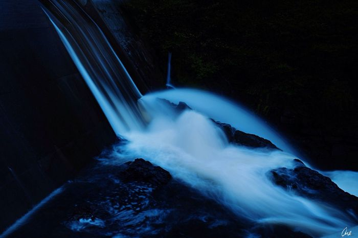Nature River Waterfall Visions Of Emptyness