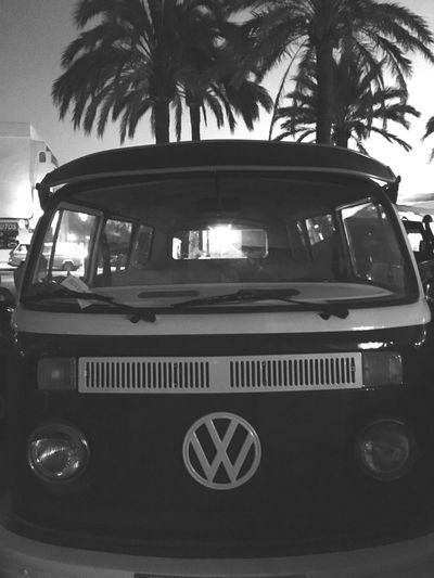 Formentera Volskwagen Westfalia Hippie Hippielife Summer Picoftheday EyeEm Best Shots Enjoying Life Black And White B&w Monochrome Photography