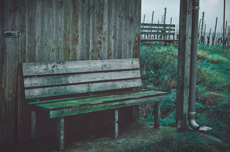 The rest Bavaria Bench German Travelling Vineyards  Architecture Bench Chillout Chillout Day Close-up Day Empty Frankonia Grass Nature No People Outdoors Relax Relaxation Rest Seat Wood - Material
