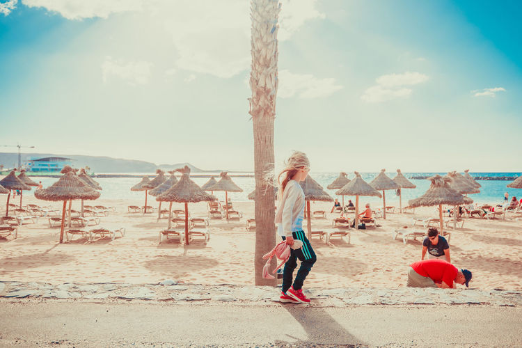 Beach Childhood Day Full Length Nature Outdoors Real People Sand Sea Sky
