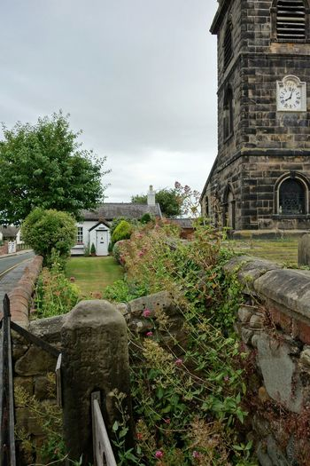 St Cuthberts Church 8.04 am.The stocks can be seen in the foreground.