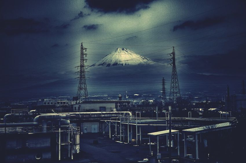 Mount FuJi Dark Cinematic Dramatic Dream Industrialized Photography Cold Tone Tokyo Japan Travel Photography Environment TedTravelTaskforce Factory