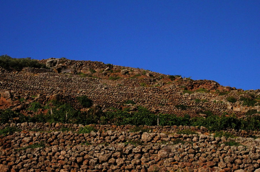 Pantelleria Blue Clear Sky Day Nature No People October 2015 Outdoors Scenics Stone Walls Terraces