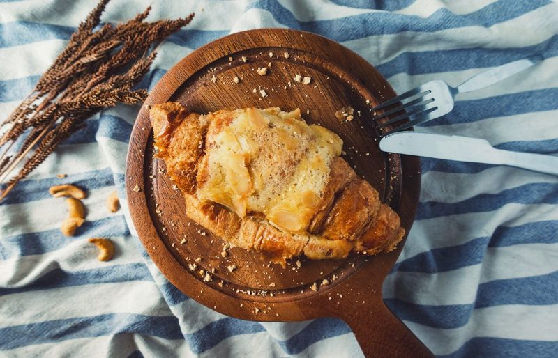 Baked Almond Croissant Bakery Food And Drink Food Freshness Table Sweet Food Bread