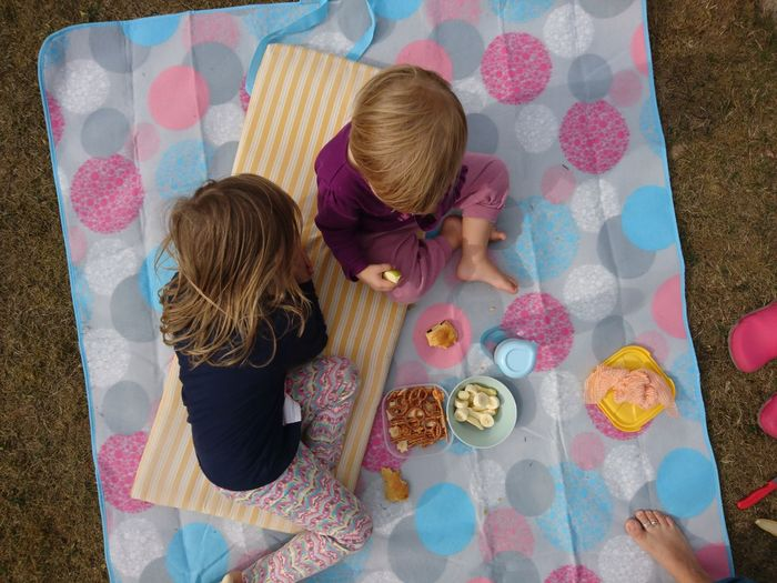 Picnic Pink Color EyeEm Selects Togetherness Multi Colored Directly Above Color Swatch High Angle View Quilt Women Single Parent Family Bonds Children Picnic Blanket Picnic Blanket