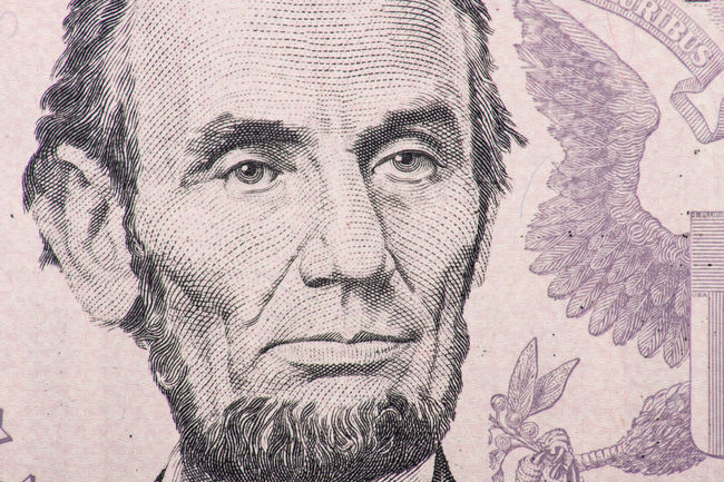 Former US president Abraham Lincoln on five dollar note Abraham Lincoln Close-up Currency Detail Dollar Notes Finance Five Dollar Bill IRS Macro Macro Photography Money Portrait Presidents US Dollar Us Presidents USA