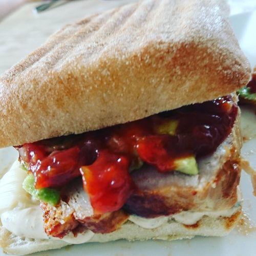 A nice and spicy pork roast sandwich Spicy Pork Pork Roast Sandwich