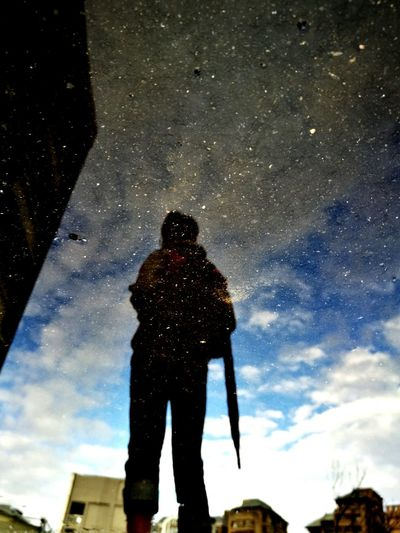 Milky Way Men Friend Waterdrops Star - Space One Person Galaxy People