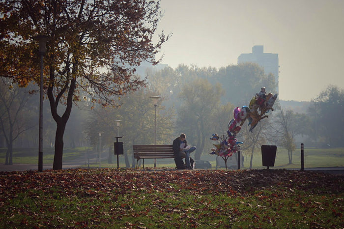 Man and his baloons ...again 🎈🎈..Have a great day everyone ... https://www.youtube.com/watch?v=vqWhpogQzcE Autumn Baloons Early Morning Eye4photography  EyeEm Nature Lover Foggy Morning Gloomy Weather Park - Man Made Space Picture Individuality Reading Picturing Individuality Showcase: November Sitting On A Bench Walking Around EyeEm Gallery EyeEm Best Shots My Best Photo 2015 Ladyphotographerofthemonth