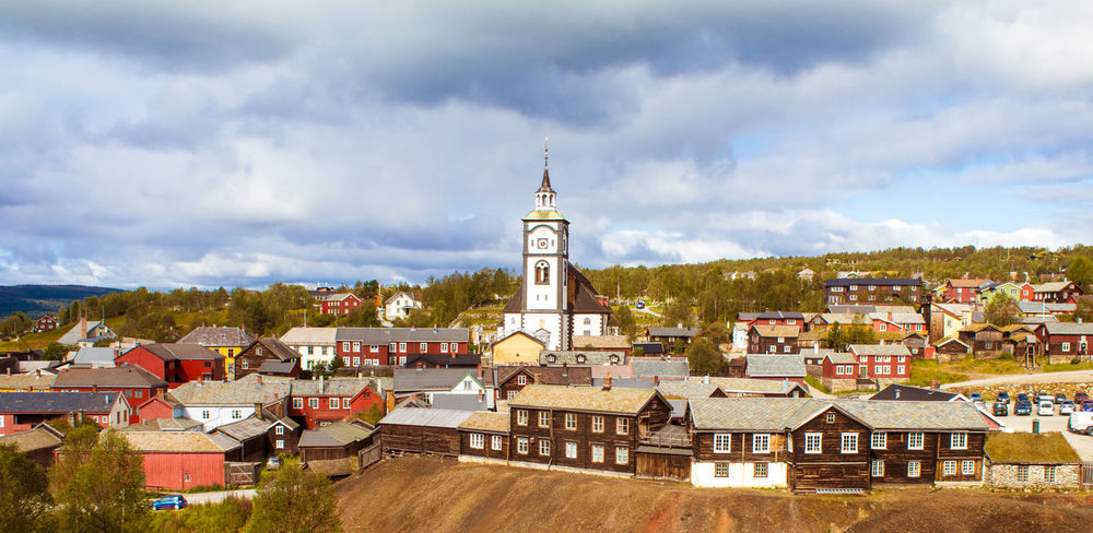 Roros Norway Røros Architecture Building Exterior Built Structure City Cityscape Cloud - Sky Day House No People Outdoors Roof Sky Town Travel Destinations Tree