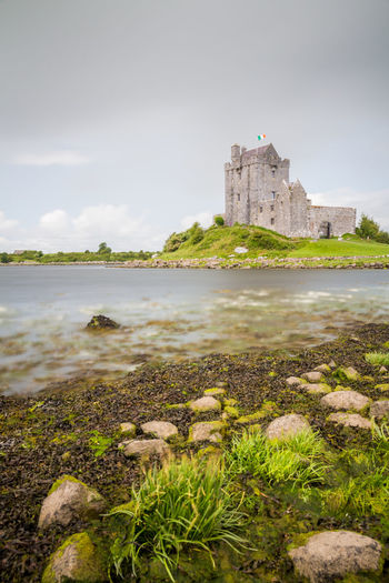 A castle on the west coast of Ireland Castle Dungaire Castle Ancient Architecture Beauty In Nature Building Exterior Built Structure Castle Cloud - Sky Day Fort History Long Exposure Medieval Nature No People Outdoors Rock - Object Scenics Sea Sky Tourism Travel Travel Destinations Water
